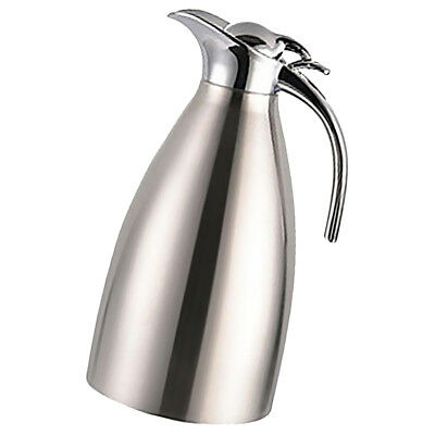 Double Layer Stainless Steel 2L Vacuum Jug Thermal Carafe Insulated Silver