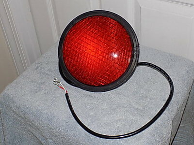 "NOS 8"" Red LED Traffic Light Signal Lens"