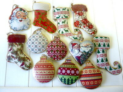 Vintage Victorian Style Metal Christmas Tree Decorations Retro Traditional