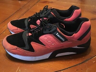 ed4843a4 Saucony Grid 9000 Bungee Pack Coral Orange Black Running Men's S70196-2  Size 9.5