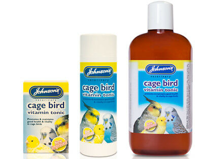 NEW IMPROVED Cage Bird Vitamin Tonic Budgies Cockatiels Parrotlets Finches