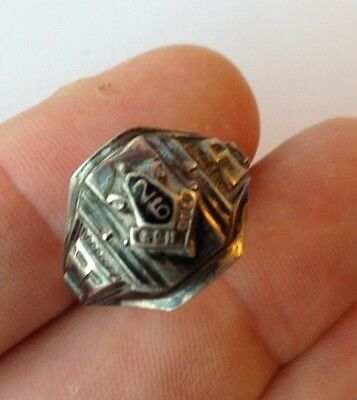 Vintage Sterling Silver Class Ring Size 7.25