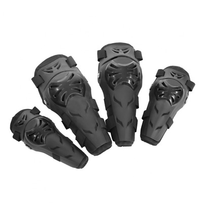Qiilu 4Pcs Motorcycle Motocross Cycling Elbow Knee Pads Armors Wrist Protective
