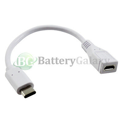 100X USB Micro USB to Type C Adapter Cord for Samsung Galaxy S8 /S8 Plus/Note 8