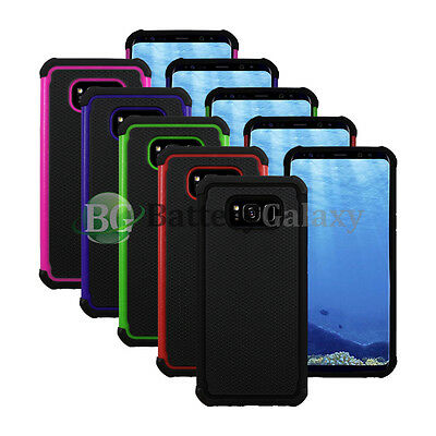 Lot of 5 Black/Blue/Green Hybrid Rubber Case for Android Samsung Galaxy S8 Plus