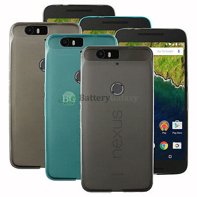 NEW HOT! Lot of 3 Black/Blue/Clear Soft Rubber Case for Android Phone Nexus 6 6P