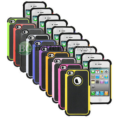 CLEARANCE Lot of 10 Hybrid Rubber Hard Case for Apple iPhone 4 4G 4S 800+SOLD