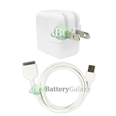 HOT USB Battery Home Wall Charger+Cable Cord for TAB TABLET Apple iPad 1 1st GEN