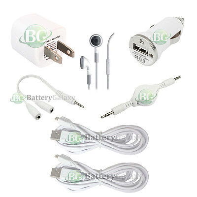 7pc NEW USB 10' Cable+Car+Wall Charger for Samsung Galaxy A5 A7 J3 Amp Prime On5