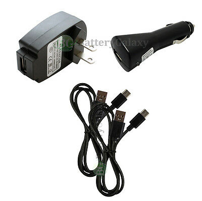 2 USB Type C Cord+Car+Wall Charger for Motorola Moto Z/Force/Play Droid 400+SOLD