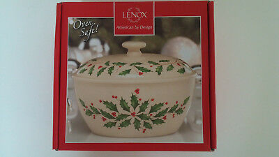 NEW Lenox Holiday Small Covered Casserole Dish- Oven Safe!