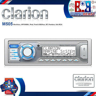 Clarion M505 Marine Single-din In-dash Usb/mp3/wma Receiver With Bluetooth[r]
