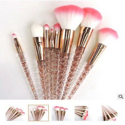 Crystal 8Pcs Unicorn Makeup Brushes Cosmetic Tool Kit Eyeshadow Powder Brush Set