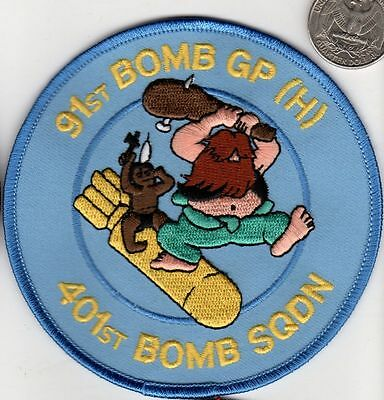 US Army Air Corps Air Force 91 BOMB GROUP 401 Squadron Patch WWII Veteran Indian