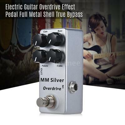 MOSKY MM Mini Overdrive Electric Guitar Effect Pedal Full Metal Shell Silver