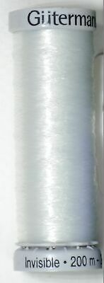 Gutermann Invisible Thread, 200m (220 yards) Colour 1001 CLEAR, Multi Buy Select