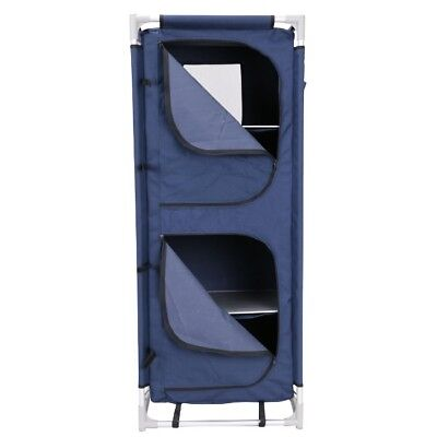 Portable 4 Shelf MDF & Polyester Camping Cupboard