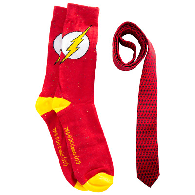 DC Comics - The Flash Logo Socks & Tie Gift Pack - Loot - BRAND NEW