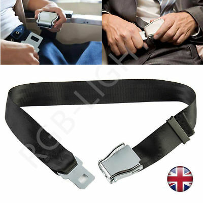 Adjustable Airplane Seat Belt Extension Extender Airline Buckle Aircraft UK RLTS