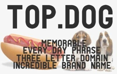 Top.Dog - New Generic Domain Name Business Brand Top Dog Hot Dogs Pets