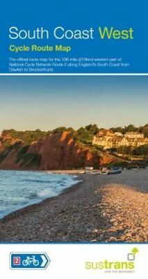 South Coast West Cycle Map by Sustrans 9781910845325 (Sheet map, folded, 2017)