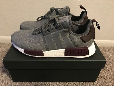 Adidas NMD R1 Wool Grey Maroon Champs Sports Exclusive - with Receipt -  CQ0761 b626f6490108