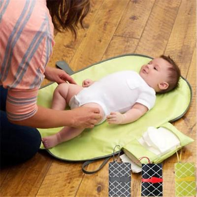 Baby Nappy Diaper Bag Changing Change Clutch Mat Foldable Pad Handbag Wallet B