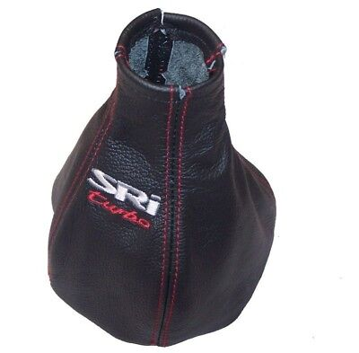 """Gear Stick Gaiter For Vauxhall Astra G Coupe 1998-05 Leather """"SRi turbo"""" Logo"""