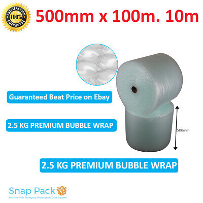 500mm x 100M (meters) Bubble Wrap Roll 10mm Bubbles-  Made in Melbourne A Grade