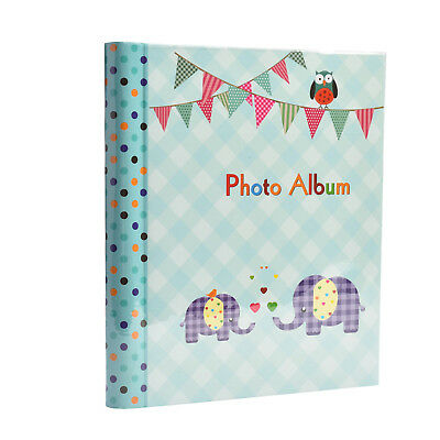 Baby Boy Blue Gift Photo Album Large Self Adhesive 20 sheets  40 Sides