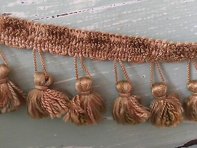 "VINTAGE FRENCH PASSEMENTERIE TASSEL TRIM- 2 Pieces - Each 35.5"" Long"