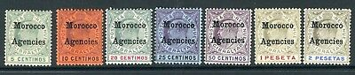 MOROCCO AGENCIES-1903-5  A mounted mint set to 2p with SPECIMEN OVPTS Sg 17s-23s