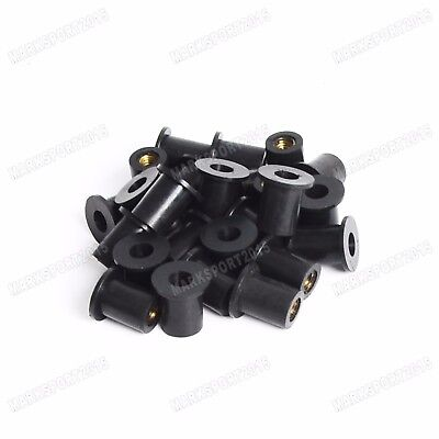 M5 Fairing Rubber Well Nuts 5mm x 14mm for Motorcycle Universal 10x 30x 50x