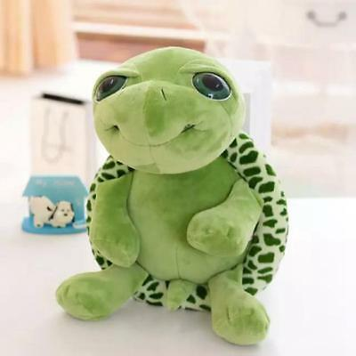 Children 20cm Big Eyes Tortoise Puppets Plush Baby Appease Doll Toys Gifts 6A