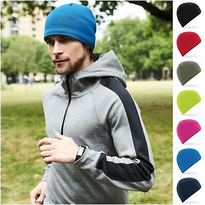 a832405c73b Stretch Running Beanie Hat Skater Ski Sports Cycling Winter Beanie Skull  Cap Hat