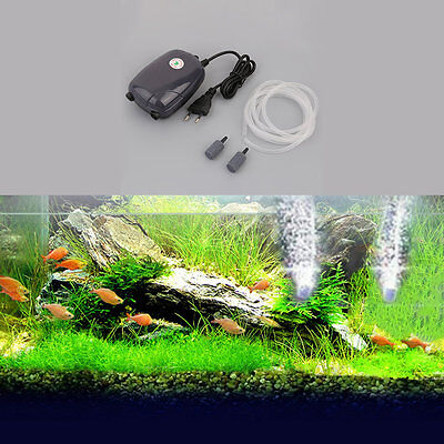 Aquarium Fish Tank Pond Pump Hydroponic Oxygen Air Bubble Disk Stone Aerator EW