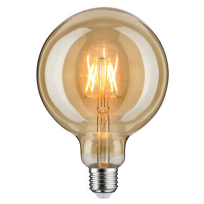 Paulmann 283.81 LED Filament Vintage Globe125 Retrolampe 6,5W E27 Gold 1700K