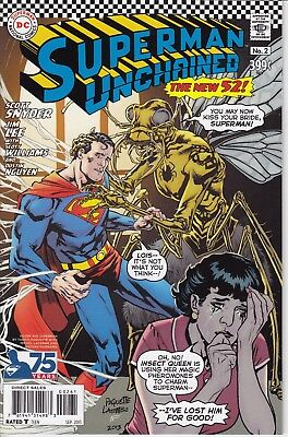 SUPERMAN UNCHAINED 2     ...NM-  ...2013   ..1:50 Variant Cover.       Bargain!