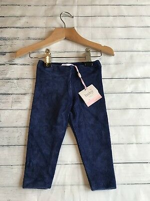 Baby Girls Clothes 3-6 Months - Cute Velour Leggings Trousers -New -