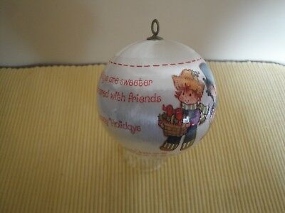 Vintage 1982 Strawberry Shortcake Satin Christmas Ball Ornament Great Shape
