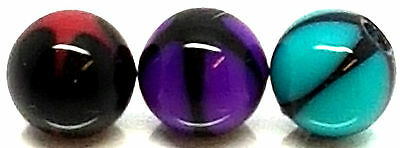 1.6mm*6mm UV Acrylic Plastic Round Beads Screw Spare Replacement Ball Jewellery