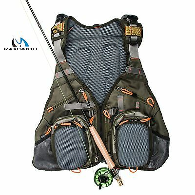 Fliegenfischerweste, Anglerweste, MaxCatch V-Pop vest pack