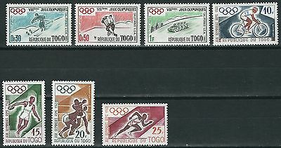 Togo - Olympic Games Squaw Valley and Rom Set mint 1960 Mi. 276-282