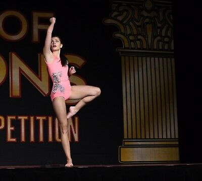 Coral and Gray Contemporary Dance Costume