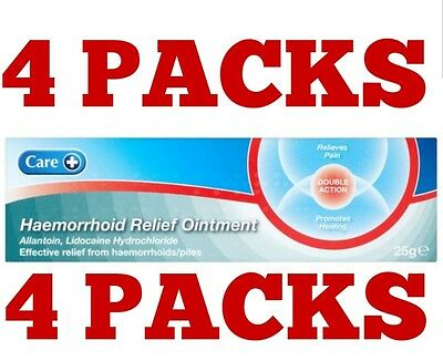 4 x Haemorrhoid  Piles Cream Ointment Relief Hemaroid Free post 4 packs of 25g