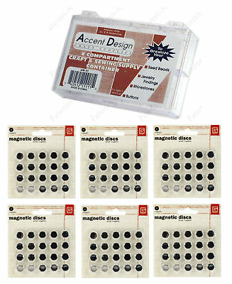 Basic Grey 6 Pks SM Magnetic Snaps Adhesive STRONG!-Thin 60 pair Bonus Case