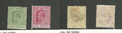 Bahamas, British, Postage Stamp, #44-45 WMK 3 Mint Hinged, 1906