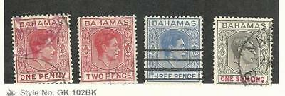 Bahamas, British, Postage Stamp, #101, 103B, 105A, 110 Used, 1938-43
