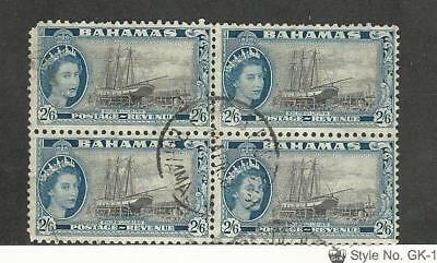 Bahamas, British, Postage Stamp, #170 Used Block, 1954 Ship