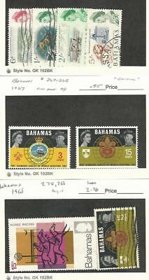 Bahamas, British, Postage Stamp, #210,3,4,6, 267-8, 274, 268 Mint & Used